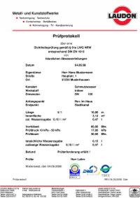 Kanalservice Prüfprotokoll